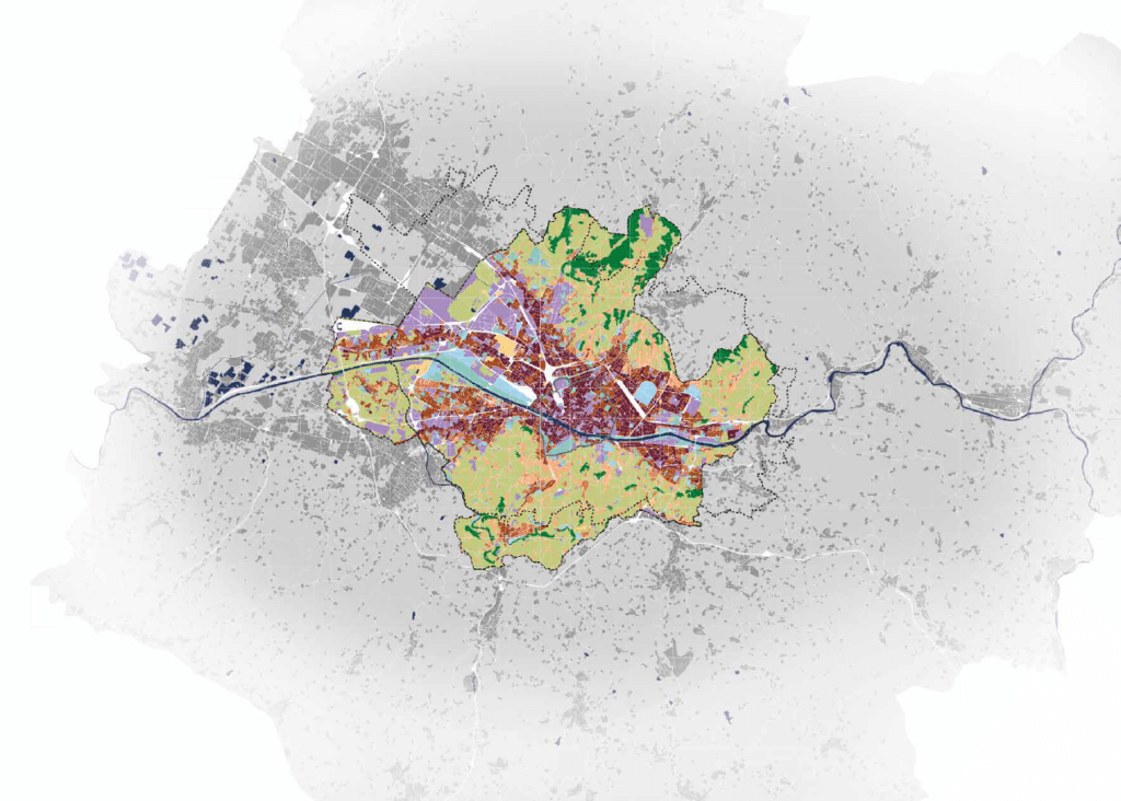 Map of Florence with data sets