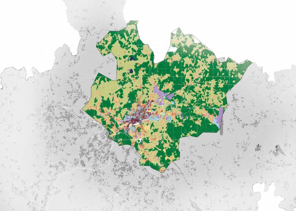 Santiago de Compostela dataflow map
